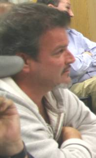 Photograph of MTU president John Gervais taken at September 2007 ratification meeting.